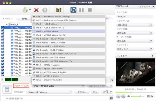 DVD iPod変換for Mac